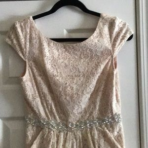 City Triangles Dresses - Lace, Cream Mini Length Bridesmaid/Formal dress.